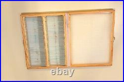 100 Piece Prepared Glass Microscope Slides in Wood Case With Plants Animal Human