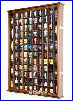 108 Shot Glass Shotglass Shooter Display Case Holder Cabinet Wall Rack 98% UV