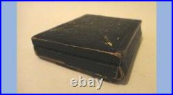 1860 antique AMBROTYPE PHOTOUNIFORM or SOLDIER thick glass, brass, wood case