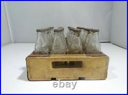 1950's Minaiture Coca Cola Glass Bottles In Wood Case