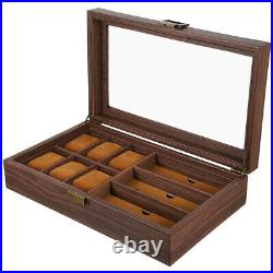 1pc Household Creative Multifunction Wood Watch Case Watch Glasses Case