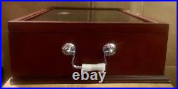 50 State Collection Wood Display Storage Box Case Glass Velvet