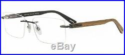 700$ New +case CHOPARD Men Rimless Gunmetal Wood Eyeglasses Frame Glasses VCHC39