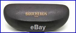 725$ New in Case BOUCHERON Frame Glasses Eyeglasses Rimless Wood & Horn BEO 115