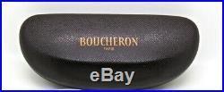 925$ New in Case BOUCHERON Silver & Wood Rimless Frame Eyeglasses Glasses Luxury