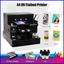 A4 UV Flatbed Printer for Phone Case Bottle Printing Machine Metal Glass Woods