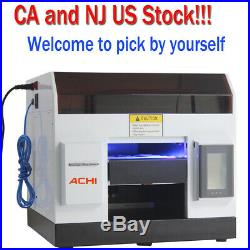 A4 UV Printer 6 Color for Phone case Glass Metal Wood All Flat 3D Embossed US