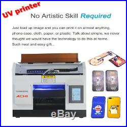 A4UV Printer 6Color for Phone case Glass Metal Wood Signs 3D Embossed&Epson R330
