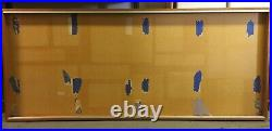 AM596 Shallow Wood Wooden Glass Front Wall Mounted Display Case 83.5W x 36.5H