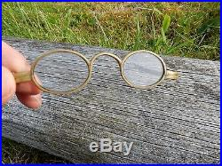 ANTIQUE GLASSES WITH ORIGINAL WOOD CASE OPTICIAN OPTICAL scientific