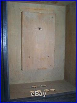 Antique 1800's Display Case Wood/Glass Door withkey 19 H x 17 W x 10 D COOL