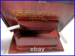 Antique Boye Needle Company Crochet Hook Wood & Glass Display Case