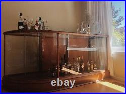 Antique Glass Bar Display Case