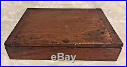 Antique Opticians Case Mahogany Wood & 100s of Lenses French Made Saul Solo