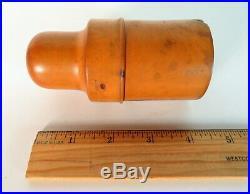 Antique Perfume Bottle London c 1800-1850 Treen Wood Case Apothecary Bottle