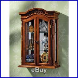 Antique Replica Brown Display Case Beacon Hill 27 Hardwood Wall Curio Cabinet