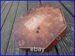 Antique Wood Case Wm L Gilbert W Glass Cover For Marines Strike Clock Intl Sale