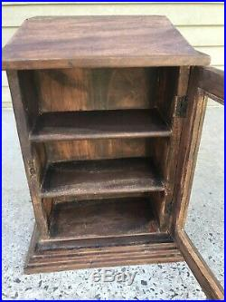 Antique Wood and Glass Counter Top Tower Display Case l14.75 x h18 x w8