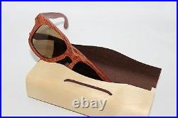BEWELL Wood Sunglasses Glasses Rosewood with Case Polarized Ce Wood Glasses
