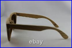 BEWELL Wood Sunglasses Wood Glasses Oak Natural with Case Polarized Ce Uniform