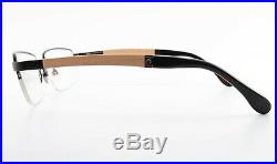 BUGATTI Brille Mod. 547 031 5419 Luxury Square Eyeglasses Wood Black +Case