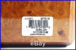 Baccarat Unique Burl Wood Oenology Case Box Empty Holds 6 Glasses France $2750