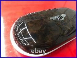 Bentley New Style Genuine OEM Eye Glass Case Brown wood/BlueLeather