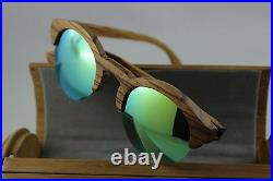 Bewell Wood Sunglasses Glasses Zebranoholz Mirrored Wooden Case Ce Wood Glasses