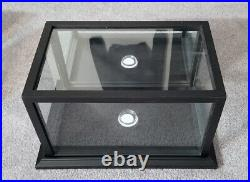 Black Wood/glass Shadow Box Football Display Case With Mirrored Back Panel