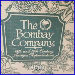 Bombay Company Glass Cherry Wood 60 Spoon Cabinet Case Wall Mount Display NEW