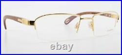 Bugatti Glasses 473 003 L Kotibé Exotic Wood Gabon 22KT Gold Frame France + Case