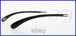 Bugatti Glasses 473 020 L Ebony Gabon Wood White Gold Luxury Frame France + Case