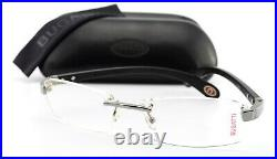 Bugatti Glasses 517 025 XL Ebony Gabon Wood Gray Gold Luxury Frame France + Case
