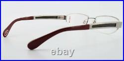 Bugatti Glasses 520 024 M Titanium Wood Wine Red 54-19 Luxury Frame Japan + Case