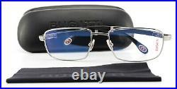Bugatti Glasses 548 023 57 18 140 Square Ruthenium Precious Ebony Wood + Case