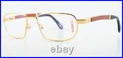 Bugatti Glasses 549 000 Padouk Wood Gold Metal 54-18 140 Luxury France + Case