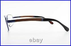 Bugatti Glasses Mod. 548 017 55 18 140 Night Blue Eyeglasses Padouk Wood + Case