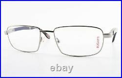 Bugatti Glasses Mod. 548 023 55 18 140 Square Eyeglasses Ruthenium Wood + Case