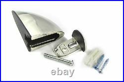 CHROME ADJUSTABLE SUPPORT FIXING BRACKETS FOR ACRYLIC, WOOD OR GLASS Dolphin Sha