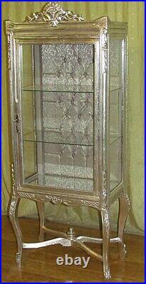 Case Baroque Style Silver Glass Case #as19