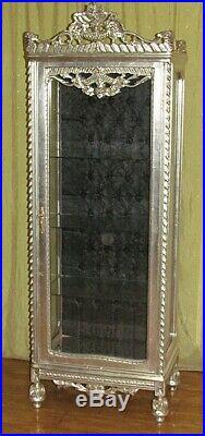 Case Baroque Style Silver Glass Case #as28