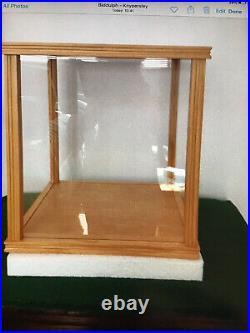 Danbury Mint Teddy Bear Display Case For Steiff Bears Wood / Glass New