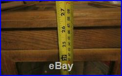 Display Case 27 Tall X 12 Wide X 12 Deep 2 Glass Shelf Made Of Wood And Glass