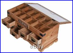 Display Case Box Wood Vintage Deckeltruhe Drawers Box With Glass Lid New
