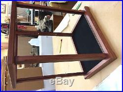 Display Case/Curio Wood & Glass Purple Heart New