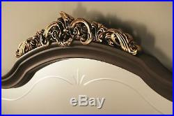 Display Case Glass Cabinet Wall Shelf Art Nouveau Wood Furniture Italy