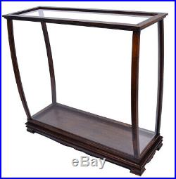 Display Case Wood Table Top Cabinet Acrylic Glass 40 Ships And Boats Models