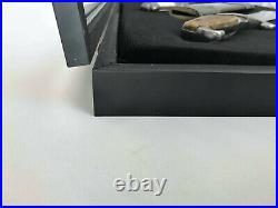 Display Case made of wood frame 16282/museum glass/ foam rubber memory