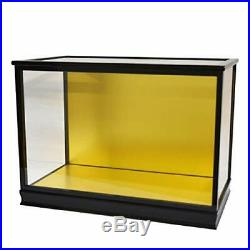 Doll Case Glass Hina May With Door Wood Grain 16 Black Width Frontage 60 Depth