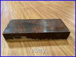 Early Antique Glass Hydrometer Set In Beautiful Original Wood Case